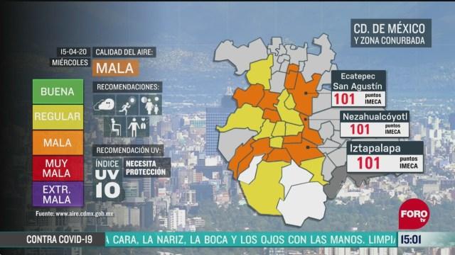 FOTO: reportan mala calidad del aire en valle de mexico