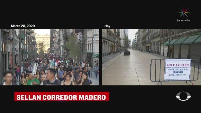 Foto: Coronavirus Restringen Acceso Sobre Corredor Madero Cdmx 1 Abril 2020