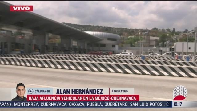 FOTO: 4 de abril 2020, se registra baja afluencia vehicular en la mexico cuernavaca
