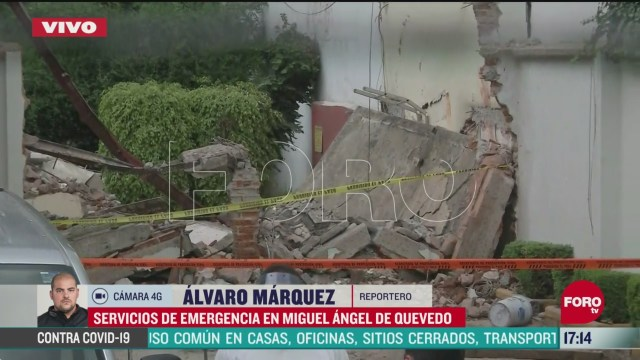 FOTO: se registra derrumbe en construccion de coyoacan cdmx