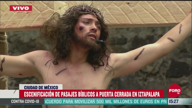 FOTO: semana santa crucifixion del cristo de iztapalapa