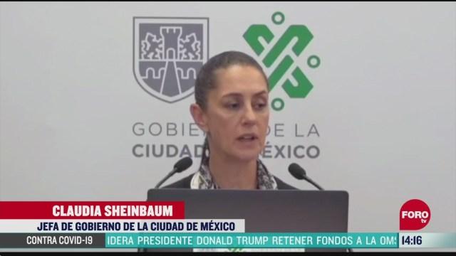 FOTO: sheinbaum confirma 10 contagiados de coronavirus en el gobierno de cdmx