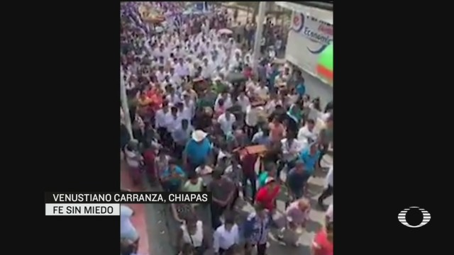 Foto: Coronavirus Sin Sana Distancia Realizan Tradicional Viacrucis Chiapas 10 Abril 2020