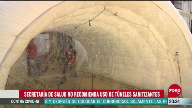 Foto: Coronavirus Ssa No Recomienda Uso Túneles Sanitizantes 9 Abril 2020