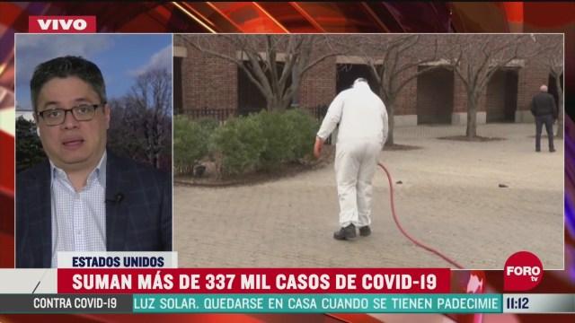 suman mas de 337 mil casos de coronavirus en eeuu