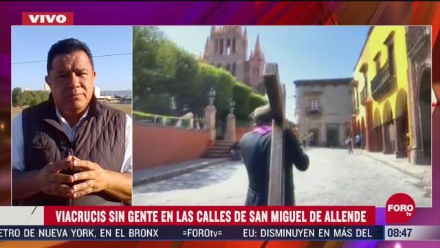 FOTO:11 de abril 2020, suspenden viacrucis en san miguel de allende guanajuato