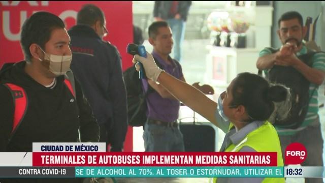 FOTO: terminales de autobuses implementan medidas sanitarias