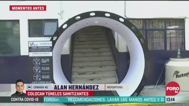 FOTO: tlalpan instala tuneles sanitizantes contra coronavirus