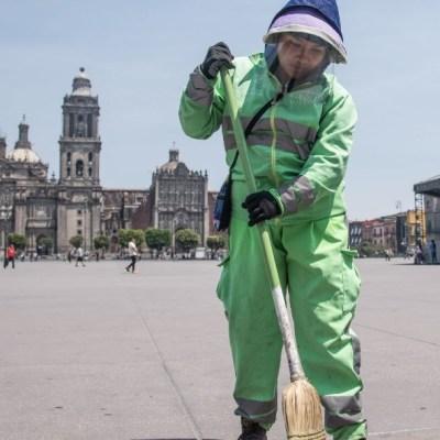 Coronavirus: Trabajadores de limpia, esenciales en CDMX