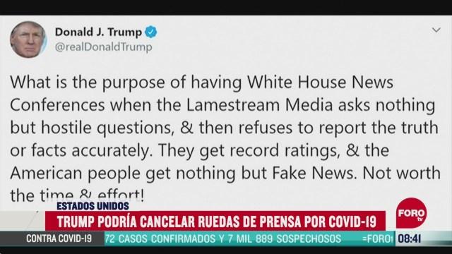 FOTO: 26 de abril 2020, trump podria cancelar sus ruedas de prensa diarias sobre coronavirus