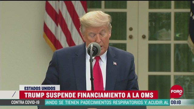 trump suspende financiamiento a la oms
