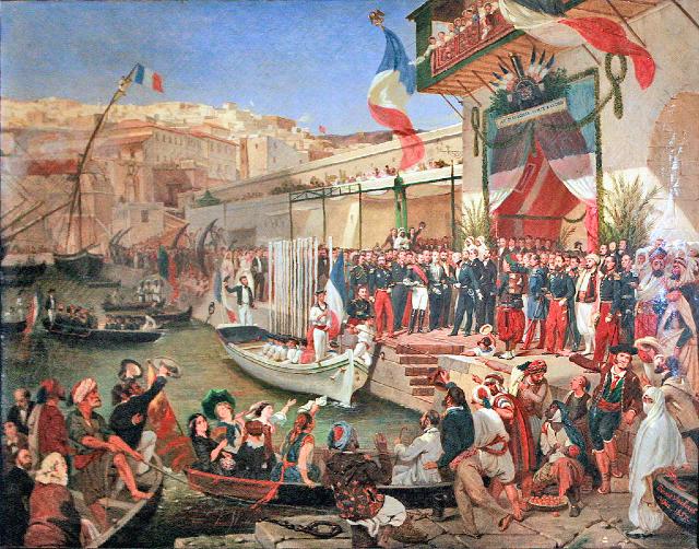 Llegada de Marshal Randon a Argelia 1857