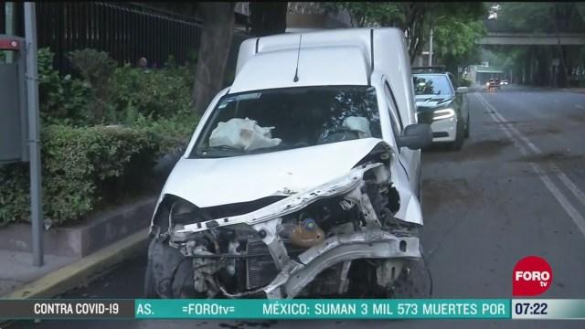 accidente automovilistico deja un lesionado en ejercito nacional en cdmx