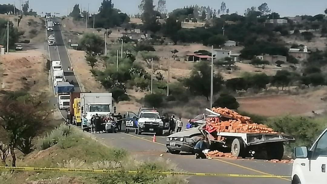 Cinco muertos deja accidente en Dolores Hidalgo, Guanajuato