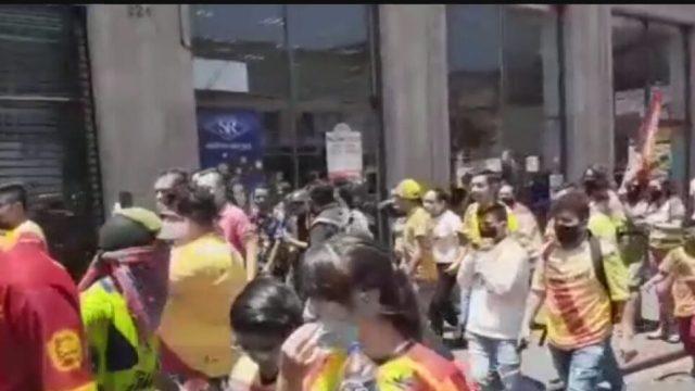 FOTO: 24 de mayo 2020, aficionados del morelia salen a las calles pese a contagios por coronavirus