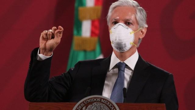 Foto: Alfredo del Mazo, gobernador del Estado de México, durante la conferencia matutina, 13 mayo 2020