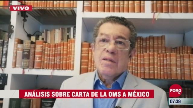 analisis de la carta de la oms a mexico