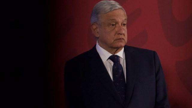 Andrés Manuel López Obrador en conferencia en Palacio Nacional. Cuartoscuro