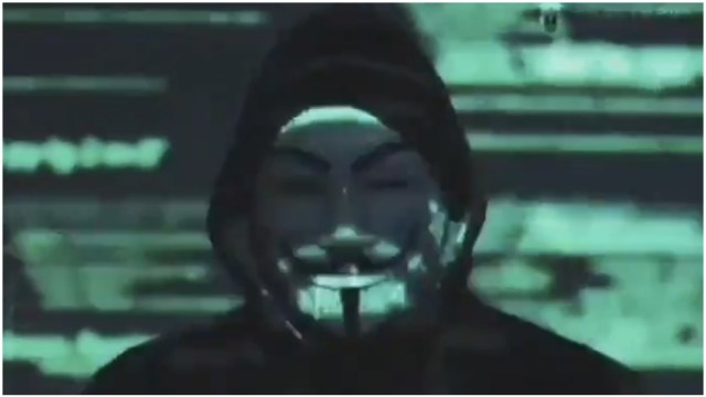 Foto: Un video que se atribuye a Anonymous amenaza con exhibir la corrupción en Estados Unidos, 31 de mayo de 2020 (Twitter)