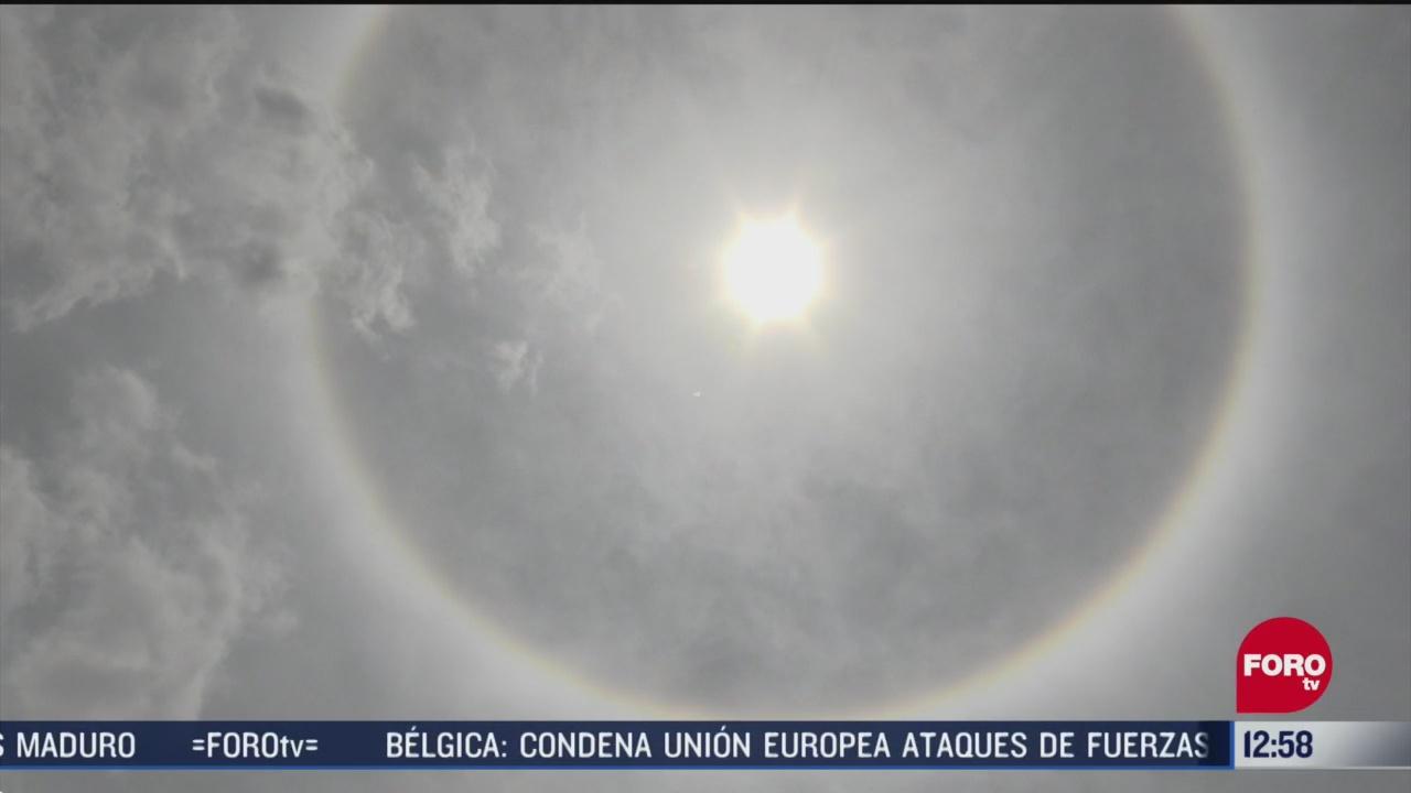FOTO: aprecian halo solar en yucatan