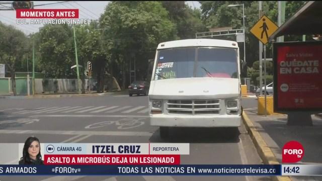 FOTO: asalto a microbus deja una persona lesionada en iztapalapa