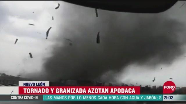 Foto: video asi azoto el tonado en apodaca nuevo leon 8 Mayo 2020