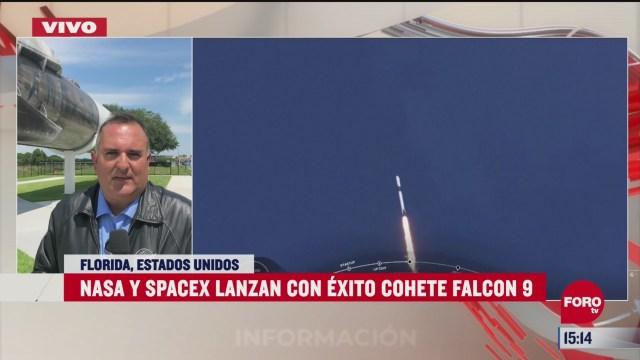FOTO: 30 de mayo 2020, astronautas no reportan problemas durante el vuelo de spacex