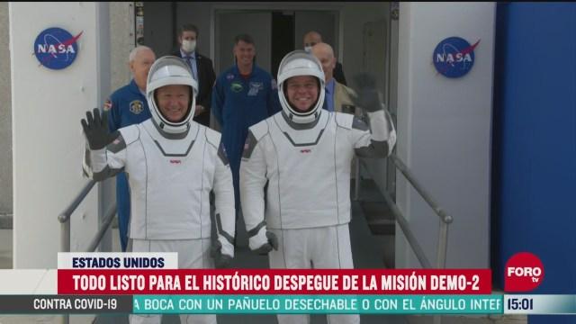 FOTO: astronautas se despiden de sus familias previo a lanzamiento de la nasa