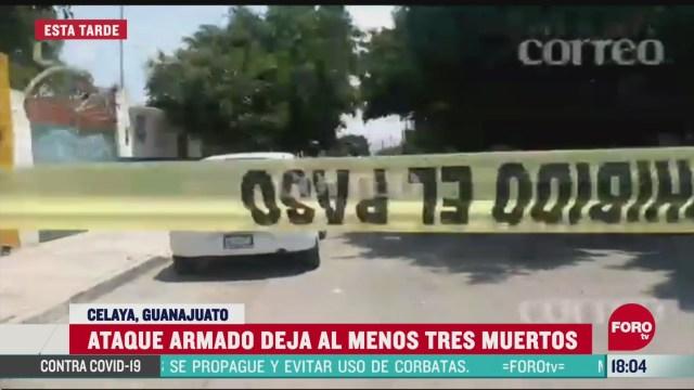 FOTO: ataque armado deja tres muertos en guanajuato