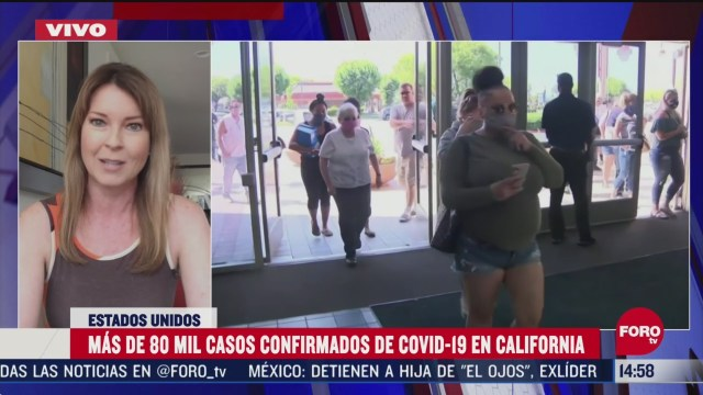 FOTO: california suma 80 mil casos de coronavirus