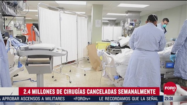 cancelan millones de cirugias en el mundo para atender casos de coronavirus