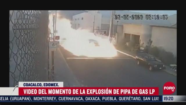 Video Momento exacto de la explosión de pipa en Coacalco