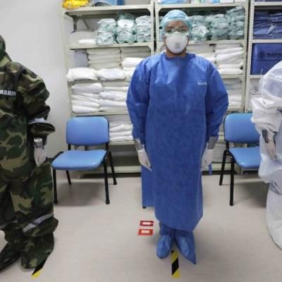 El hospital implementó estrictas medidas de bioseguridad, las áreas de atención de pacientes por COVID-19 se encuentran aisladas. (Foto: Cuartoscuro)