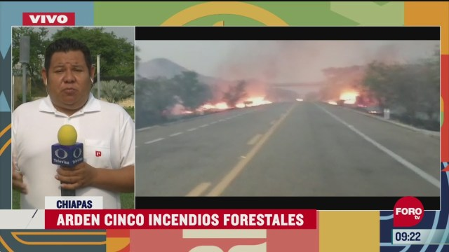 chiapas registra cinco incendios forestales