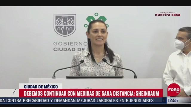 ciudad de mexico sigue en semaforo rojo advierte sheinbaum