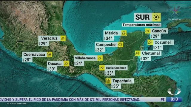 FOTO: 1 de mayo 2020, clima al aire frente frio 58 provocara lluvias fuertes en el sureste de mexico