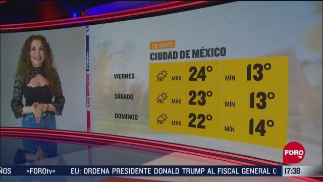 FOTO: clima de la tarde del 28 de mayo de 2020 con mayte carranco