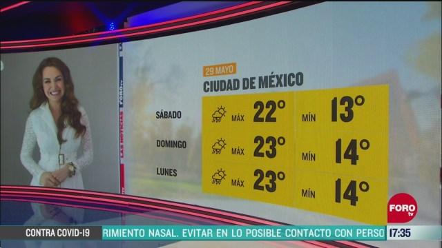 FOTO: clima de la tarde del 29 de mayo de 2020 con mayte carranco