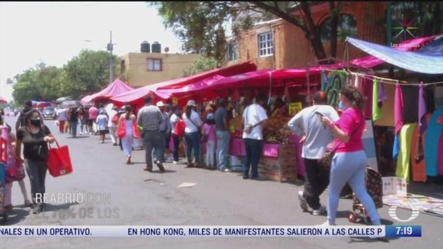 comienzan a reabrir mercados y tianguis en coyoacan