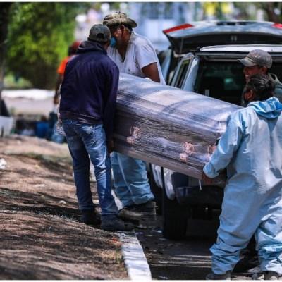 Imagen: América Latina este sábado las 50 mil muertes por COVID, 30 de mayo de 2020 (Getty Images)