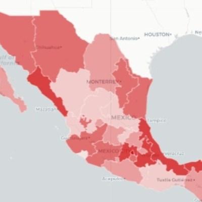 Mapa y estadísticas de coronavirus en México del 18 de mayo de 2020