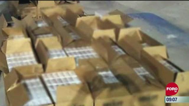 decomisan casi 14 mil cajetillas de cigarros ilegales en sonora