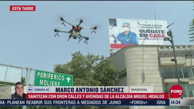 FOTO: drones sanitizan calles de alcaldia miguel hidalgo en cdmx