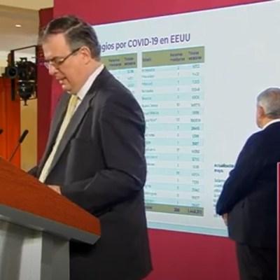 Ebrard: Por coronavirus se ha repatriado a 12 mil 746 mexicanos