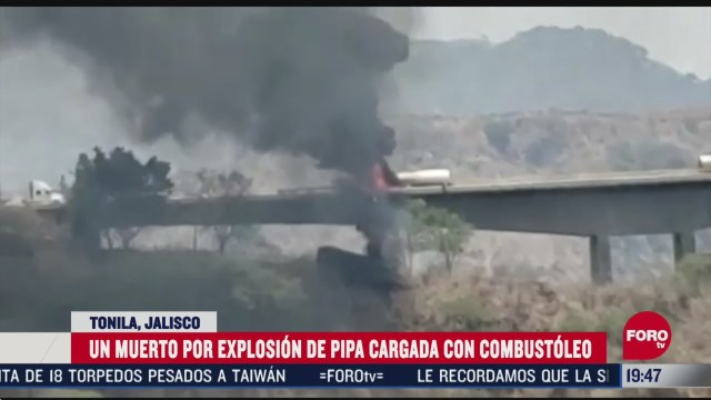 explosion de pipa deja un muerto en jalisco