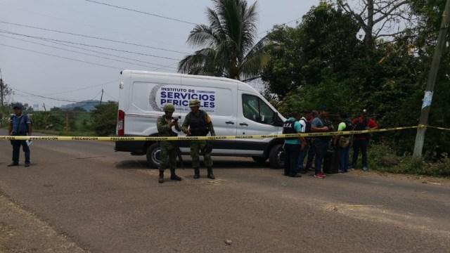 Aspectos del enfrentamiento en Acatlán de Pérez Figueroa, Oaxaca. (Twitter: @FISCALIA_GobOax)