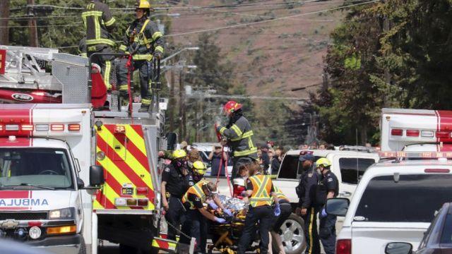 Foto: Se estrella avión acrobático en Canadá; muere un tripulante, 17 de mayo de 2020, (Twitter)