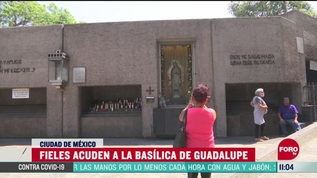 fieles acuden a la basilica de guadalupe pese a la pandemia del coronavirus
