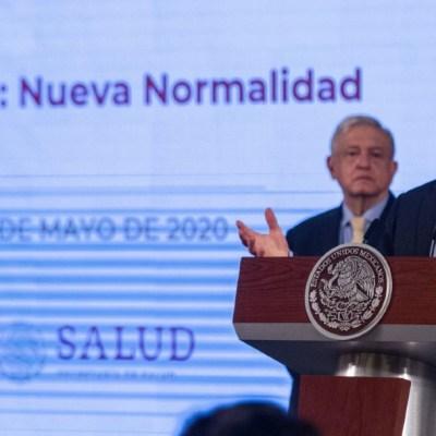 Hugo López-Gatell, subsecretario de prevención y Promoción de la Salud, durante la conferencia matutina en el Palacio Nacional. (Foto: Cuartoscuro)