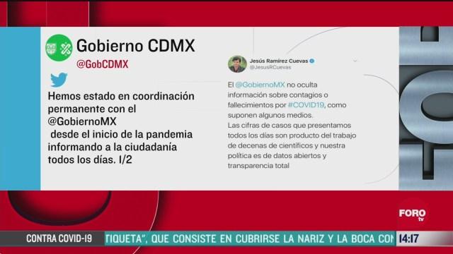 FOTO: gobierno federal y cdmx niegan contradiccion en cifra de muertos por coronavirus